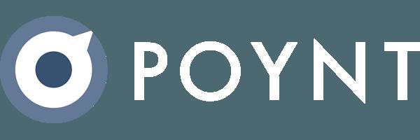 Logo Poynt horizontal white type